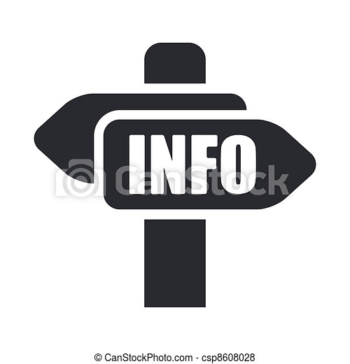 Vector illustration of single isolated info cartel icon - csp8608028