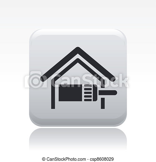 Vector illustration of single isolated paint home icon - csp8608029