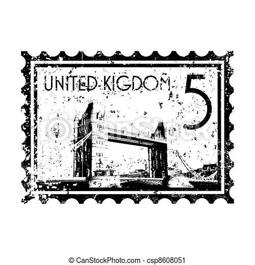Vector illustration of single isolated UK icon - csp8608051