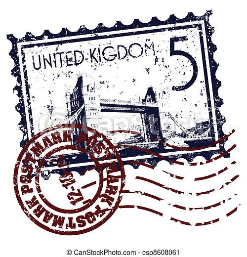 Vector illustration of single isolated UK icon - csp8608061