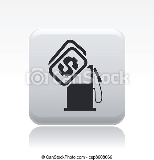 Vector illustration of single isolated gasoline price icon - csp8608066