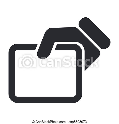 Vector illustration of single isolated show document icon - csp8608073