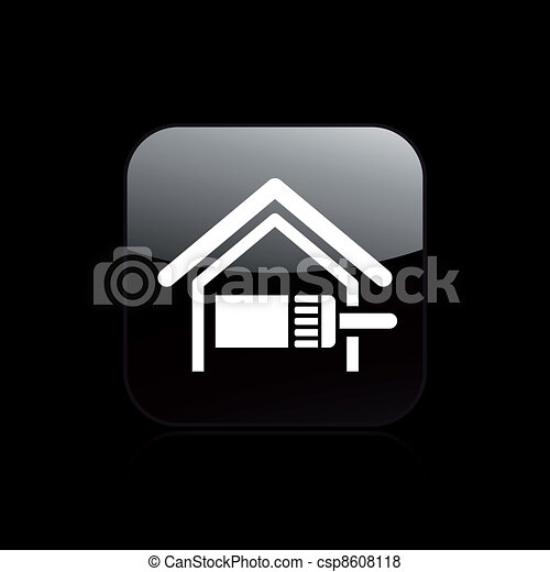 Vector illustration of single isolated home paint icon - csp8608118