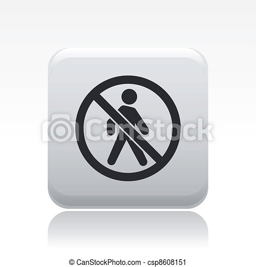 Vector illustration of single isolated forbidden access icon - csp8608151