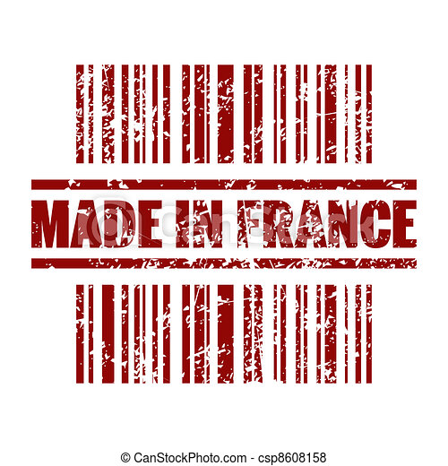 Vector illustration of single isolated made in france icon - csp8608158