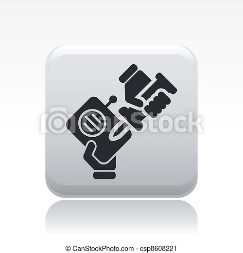 Vector illustration of single isolated radio repair icon - csp8608221