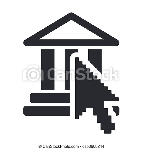 Vector illustration of single isolated web temple icon - csp8608244
