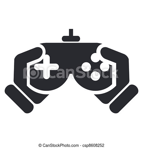 Vector illustration of single isolated video game icon - csp8608252