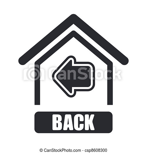 Back Icon Logo Isolated Back Button Icon