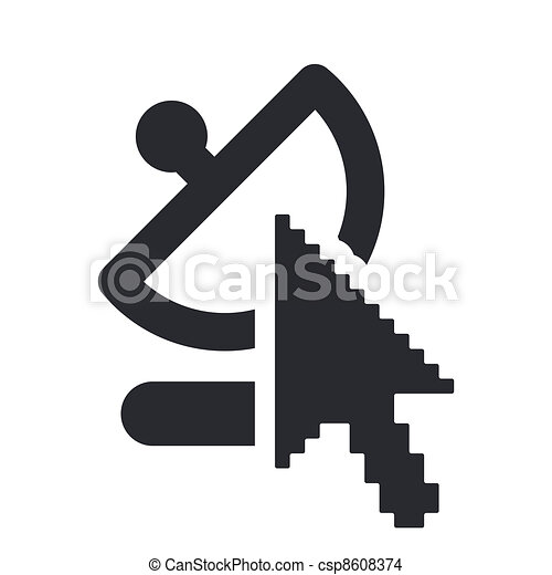 Vector illustration of single isolated web antenna icon - csp8608374