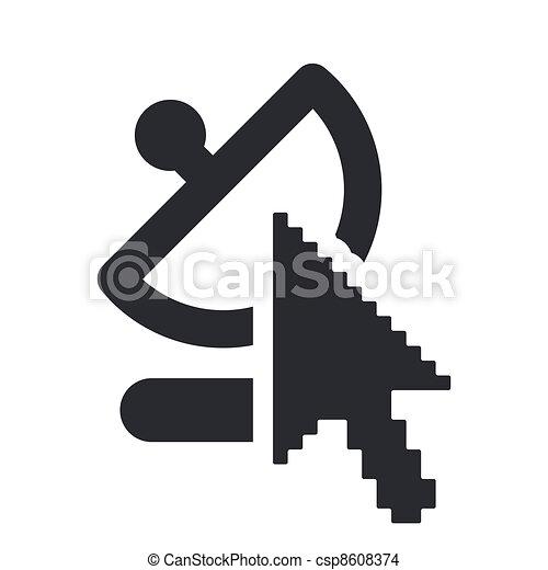 Vector illustration of single isolated web antenna icon - csp8608374
