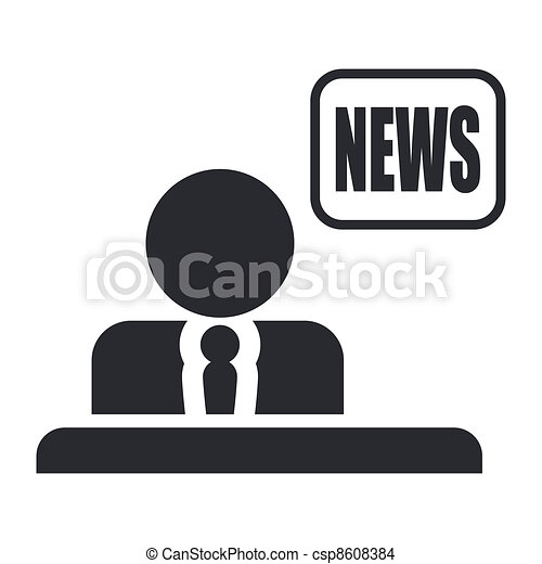 Vector illustration of single isolated news icon - csp8608384