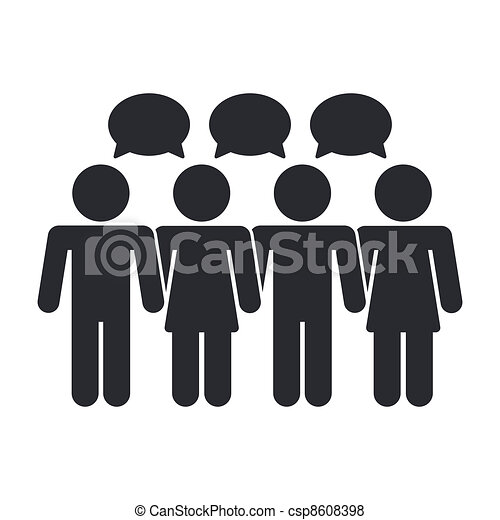 Vector illustration of single isolated social icon - csp8608398