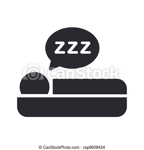 Vector illustration of single isolated sleep icon - csp8608434