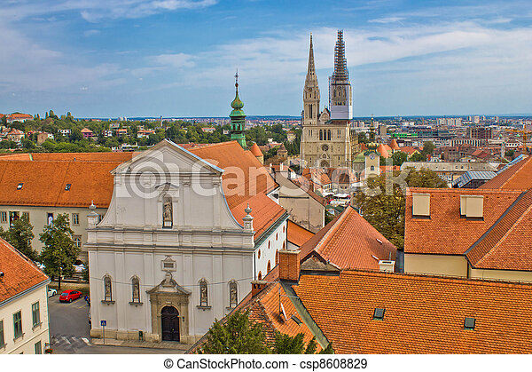 Historic upper town of Zagreb - csp8608829
