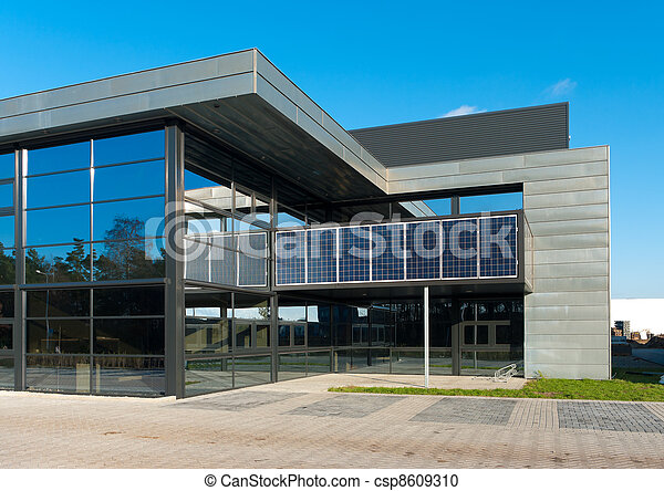 Stock photography of modern office building entrance of for House plans with separate office entrance