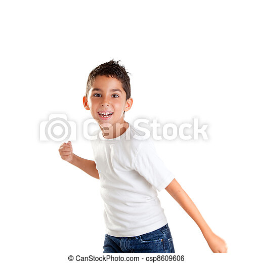 children punch boy funny gesture smiling - csp8609606