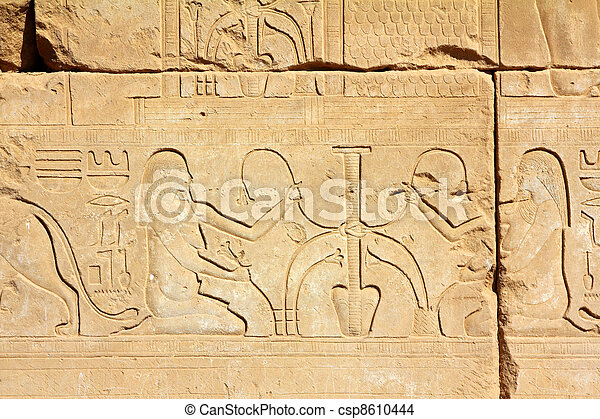 ancient egypt images and hieroglyphics - csp8610444