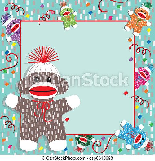 Monkey Clipart For Baby Shower Baby Sock Monkey Shower