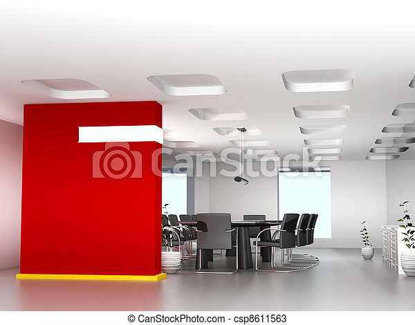 Business meeting room in office with modern decoration  - csp8611563