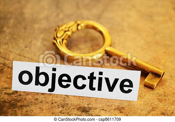 Objective concept - csp8611709