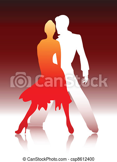 Couple dancing - csp8612400