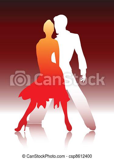 Couple dancing - csp8612400