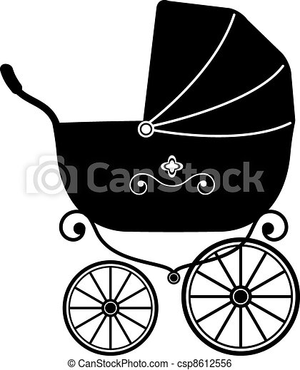 Baby Stroller (Silhouette) - csp8612556