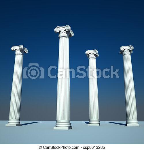 Archivio illustrazioni di colonne stile ionico ordine for Come costruire colonne in stile artigiano