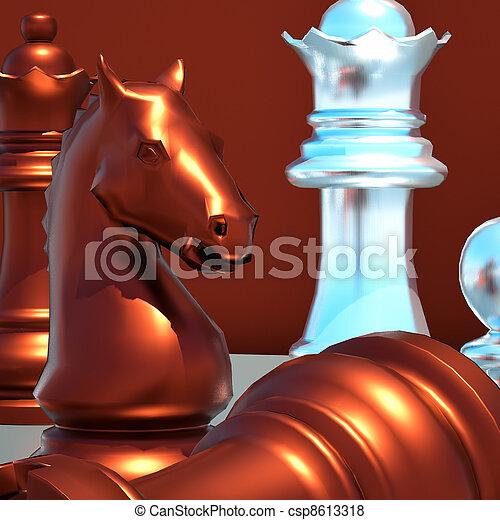 Chess battle -defeat - csp8613318
