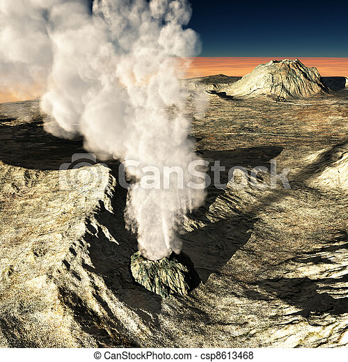 Volcanic eruption  - csp8613468