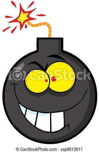Crazy Evil Bomb  - csp8613911