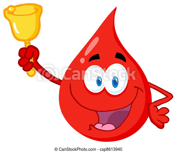 Blood Guy Ringing A Bell  - csp8613940