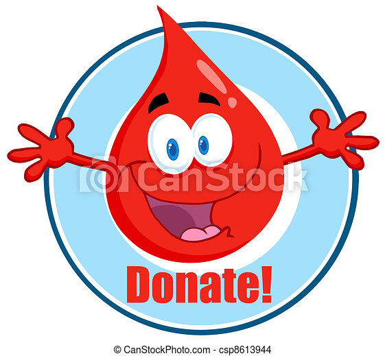 Blood Guy Asking You To Donate  - csp8613944