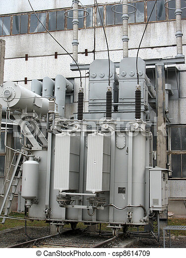 Huge industrial high voltage converter at power plant - csp8614709