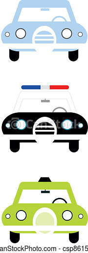 City cars front view  - csp8615349