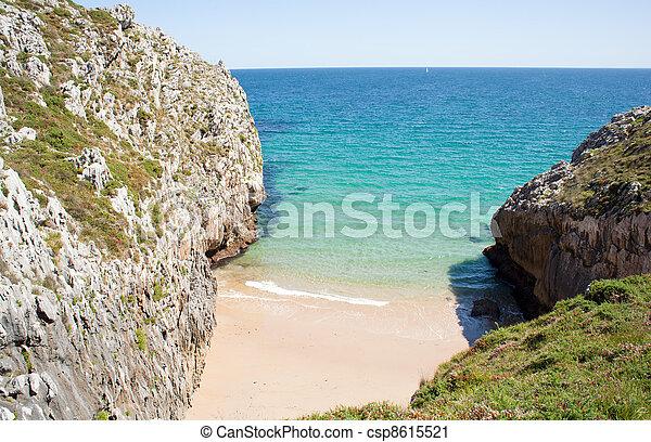 Nueva de Llanes beach - csp8615521
