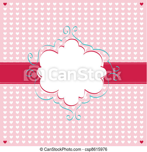 Valentines Day card - csp8615976