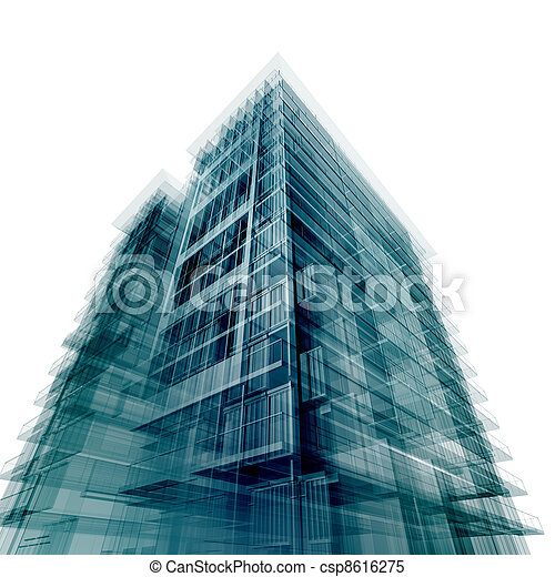 Modern office building - csp8616275