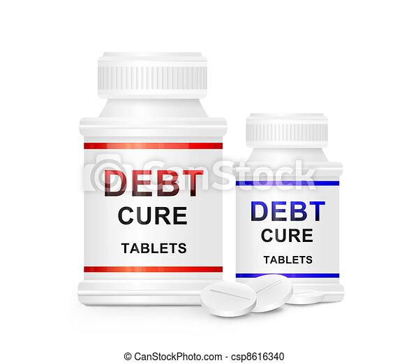 Debt cure concept. - csp8616340