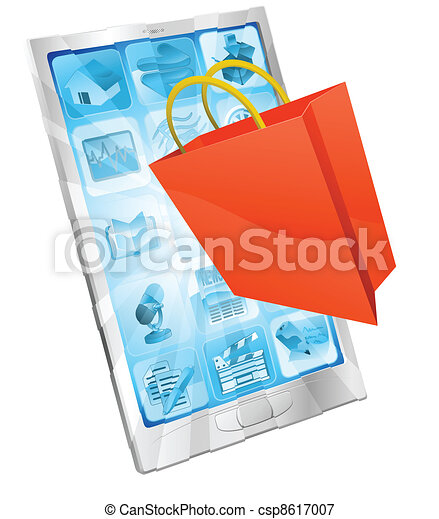Online shopping app concept - csp8617007
