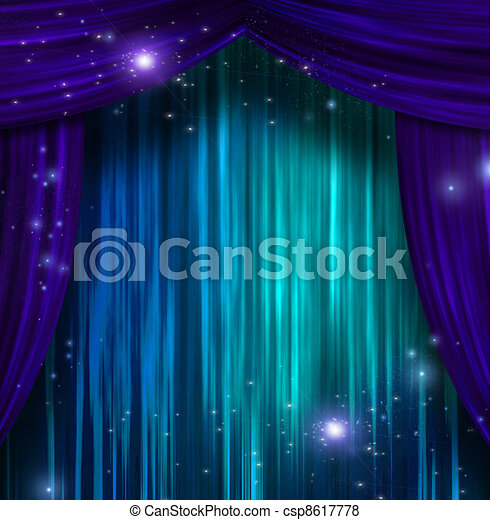 Theater Curtains - csp8617778