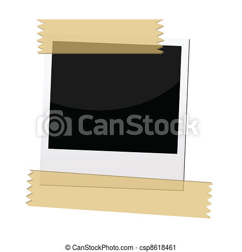 polaroid picture frame - csp8618461