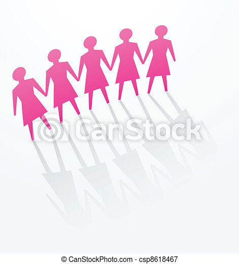 pink woman paper in office - csp8618467