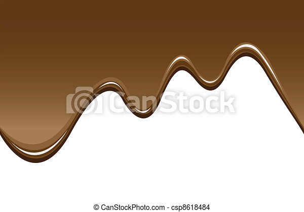 seamless melted chocolate backgrounds - csp8618484