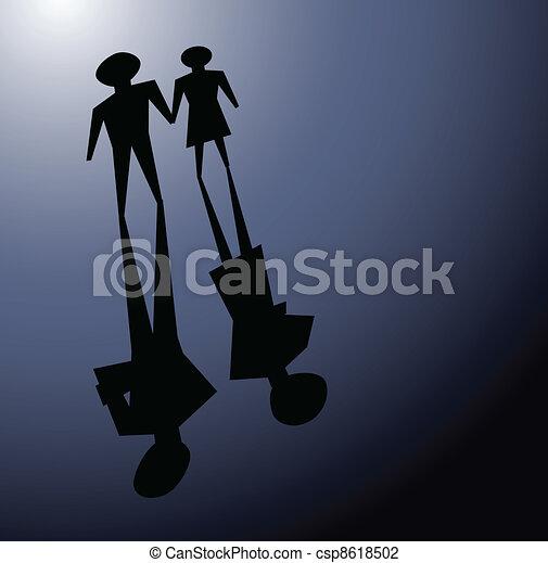 broken relationsip, divorce concepts - csp8618502