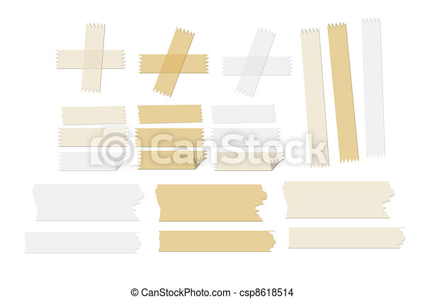 masking tape vector illustrations - csp8618514