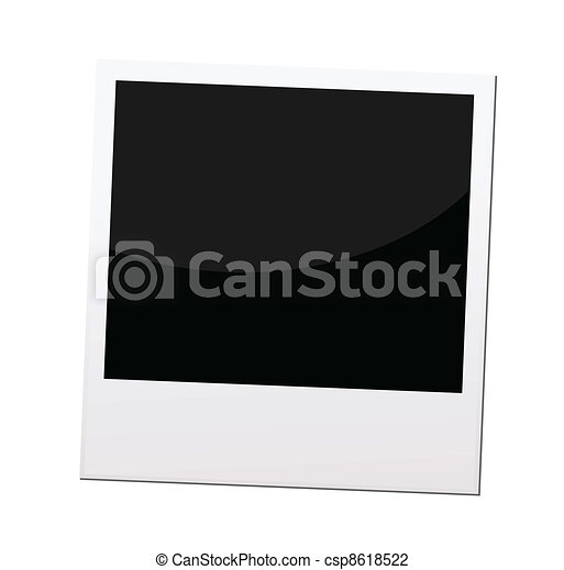 polaroid photo frame or border, vector - csp8618522