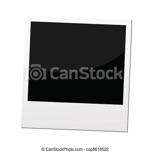 polaroid photo frame or border, vector - csp8618522