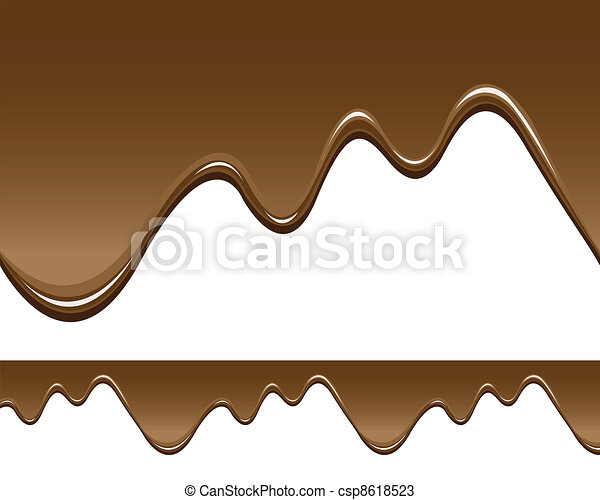 seamless melted chocolate backgrounds - csp8618523